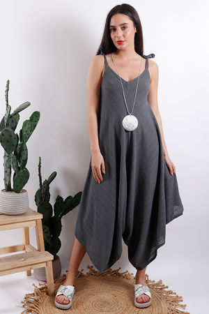 Savannah Textured Jumpsuit Slate