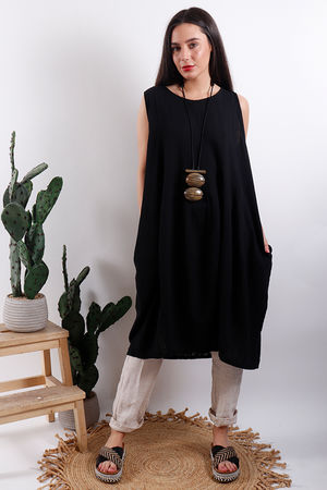Savannah Textured Tunic Black