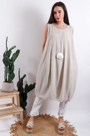 Savannah Textured Tunic Stone