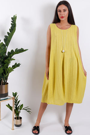 Savannah Textured Tunic Sulphur