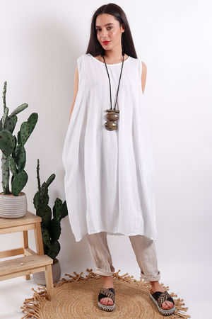 Savannah Textured Tunic White