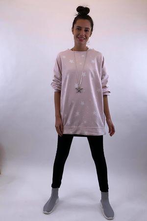 Scatter Star Sweatshirt Blush