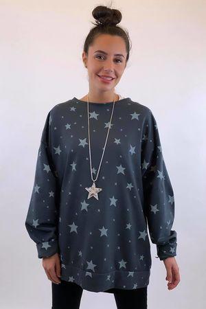 Scatter Star Sweatshirt Graphite