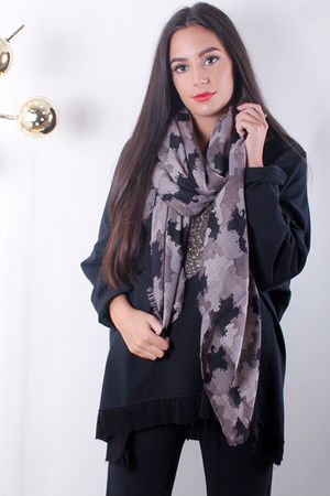 Camo Scarf Taupe