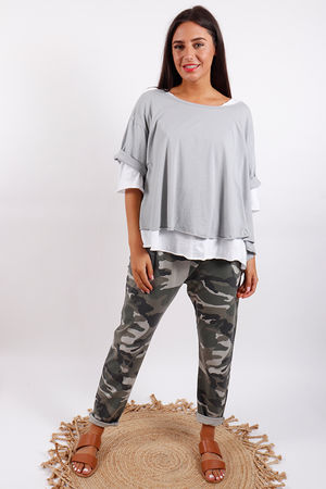 Seven Nations Double Layer Swing Tee Dove