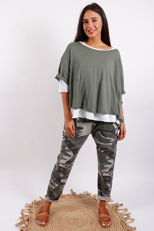 Seven Nations Double Layer Swing Tee Khaki