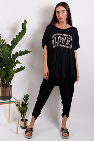 Seven Nations Leopard Love Tee Black