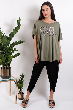 Seven Nations Leopard Love Tee Khaki