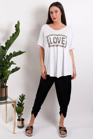 Seven Nations Leopard Love Tee White