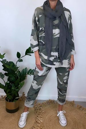Seven Nations Oversized Camo Relaxed Sweat