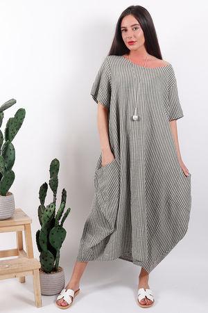 Seven Nations Pin Stripe Dress Khaki