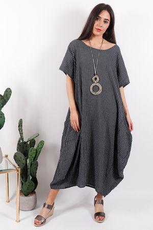 Seven Nations Pin Stripe Dress Slate