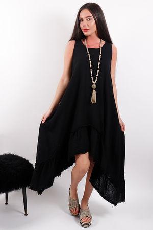 Seven Nations Ruffle Dress Black