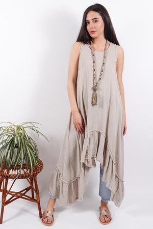 Seven Nations Ruffle Dress Sand