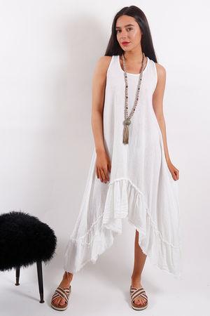 Seven Nations Ruffle Dress White