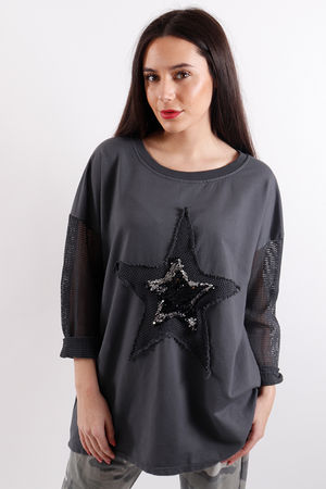 Seven Nations Textured Star Sweat Slate