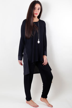 Sharnie Plain Front CDC Back Top Black