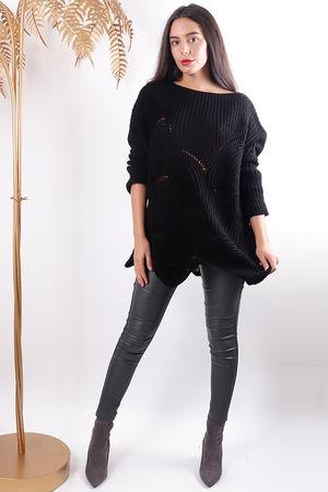 Shell Knit Black