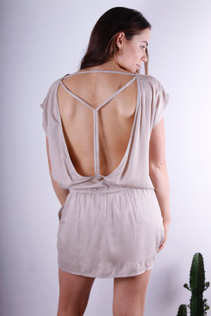 Shirel Open Back Dress Nude