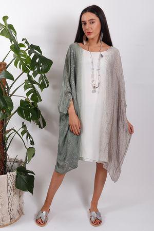 Silk Road Ombre Dress Khaki