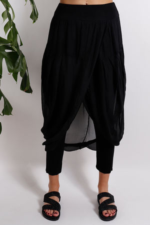 Silk Road Skirt Legging Black