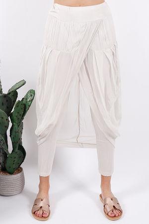 Silk Road Skirt Legging Champagne
