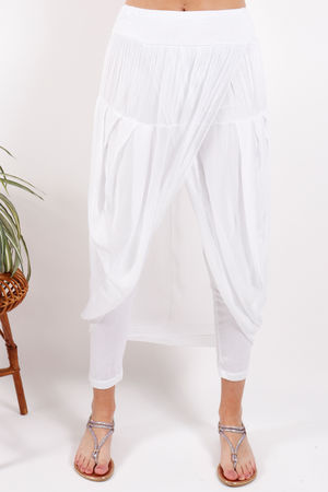 Silk Road Skirt Legging White