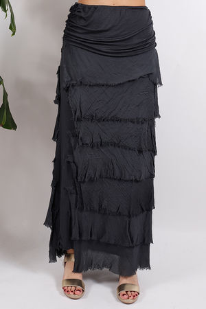 Silk Road Textured Skirt Slate