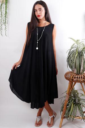 Sleeveless Swing Dress Black
