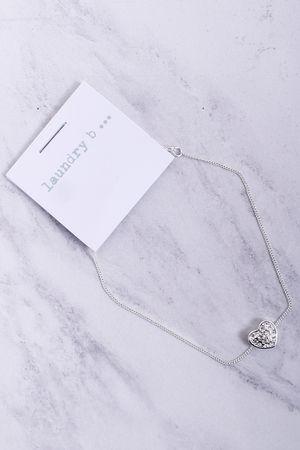 Small Diamanté Heart Bracelet Silver