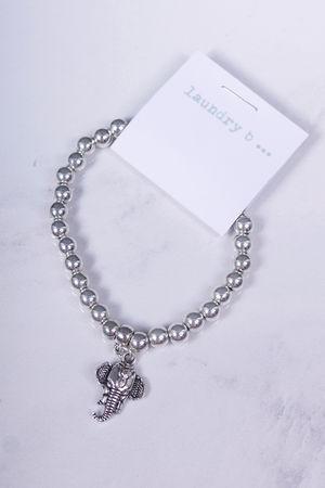 Small Elephant Bracelet Silver