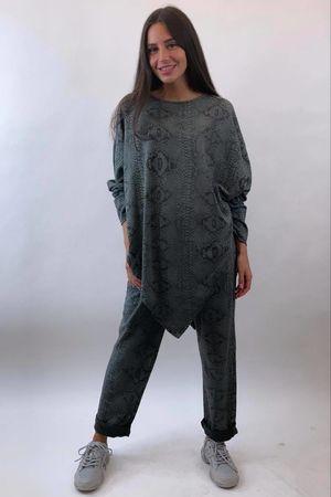 Snake Kite Lounge Suit Slate