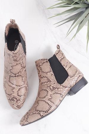 Snake Print Chelsea Boot