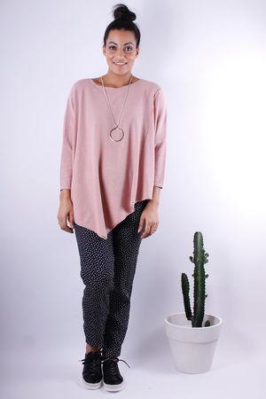 Soft B Asymmetric Knit Rose