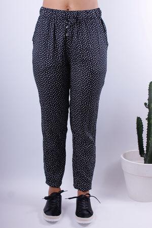 Soft B Black Printed Trousers