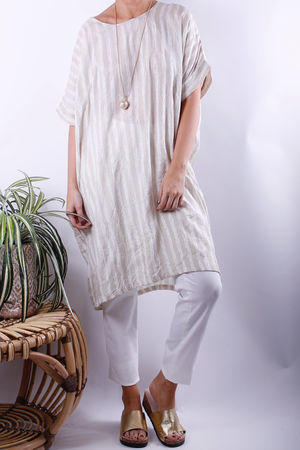 Soft B Paint Stripe Tunic