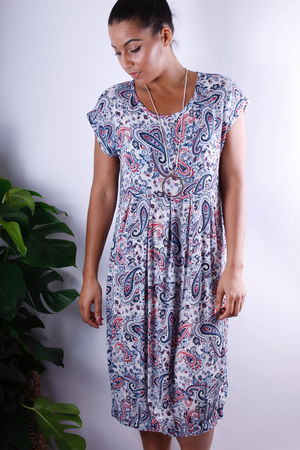 Soft B Paisley Drop Waist Dress