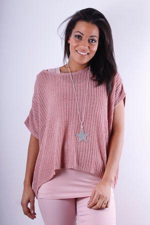 Soft B Rose Ruby Loose Box Knit