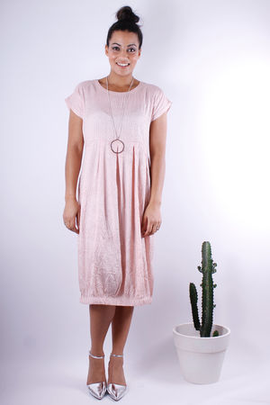 Soft B Speckle Tulip Dress Rose