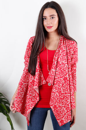 Soft B Textured Jersey Jacket Red Ruby