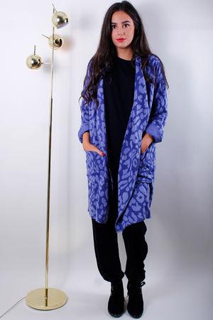 Sophie Kiss Coat Indigo