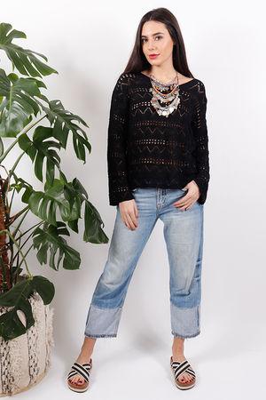 Sophyline Crochet Knit Black