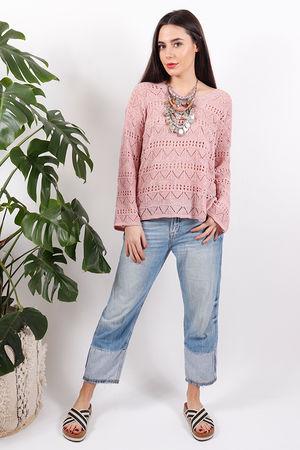 Sophyline Crochet Knit Dusky Pink