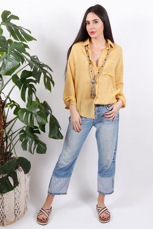 Sophyline Stripe Shirt Mustard