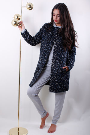 Soyaconcept Abby Light Blue Animal Coat