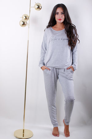 Soyaconcept Breathe In Happiness Top Light Grey