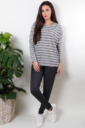 Soyaconcept Frid Stripe Top Dark