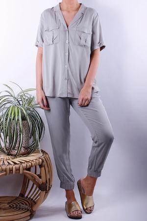 Soyaconcept Maira Khaki Satin Pocket Shirt