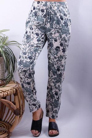 Soyaconcept Tonita Cuff & Pocket Floral Pants Khaki