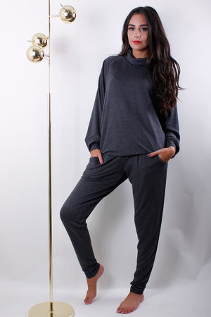 Soyaconcept Turtle Neck Top Dark Grey
